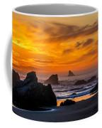 Golden Harris Beach Sunset - Oregon Coffee Mug