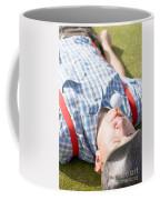Golf Player Finding Inner Balance Coffee Mug