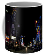 Granville Street At Night Vancouver Coffee Mug