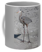 Great Blue Heron On The Beach Coffee Mug