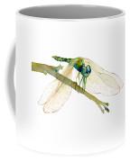 Green Dragonfly Coffee Mug