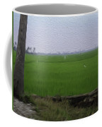 Green Fields With Birds In Kerala Coffee Mug