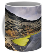 Green Lagoon On Lanzarote Coffee Mug
