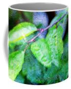 Green Leaf As A Painting Coffee Mug