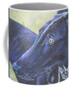Greyhound Coffee Mug by Lee Ann Shepard
