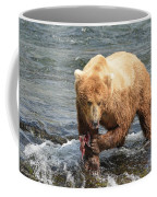 Grizzly Bear Salmon Fishing Coffee Mug
