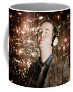 Groovy Retro Clubbing Guy At A Silent Trance Rave Coffee Mug