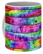 Grunge Colorful Wood Planks Background Coffee Mug