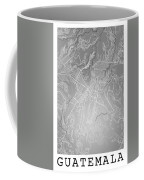 Guatemala Street Map - Guatemala City Guatemala Road Map Art On  Coffee Mug