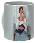 Gypsy Woman With Baby Coffee Mug by Amedeo Modigliani