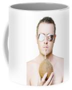 Handsome Summer Man Drinking Coconut Cocktail Coffee Mug