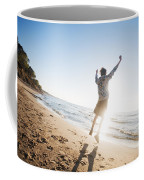 Happiness In The Beach Scenery Coffee Mug