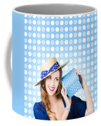 Happy Birthday Girl Holding Present Coffee Mug
