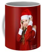 Happy Dj Christmas Girl Listening To Xmas Music Coffee Mug