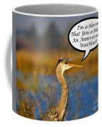Happy Heron Anniversary Card Coffee Mug