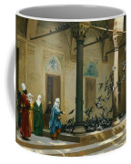 Harem Women Feeding Pigeons In A Courtyard Coffee Mug by Jean Leon Gerome