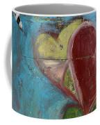 Heart Shape Painted On A Wall, Safed Coffee Mug