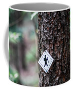 Hiking Trail Sign On The Forest Paths Coffee Mug
