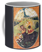Hindu Goddess Durga Fights Mahishasur Coffee Mug