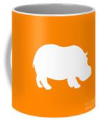 Hippo In Orange And White Coffee Mug