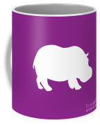 Hippo In Purple And White Coffee Mug