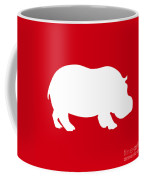 Hippo In Red And White Coffee Mug