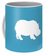 Hippo In White And Turquoise Coffee Mug