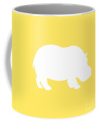 Hippo In Yellow And White Coffee Mug
