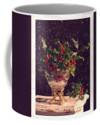 Holly And Berries Coffee Mug by Amanda Elwell