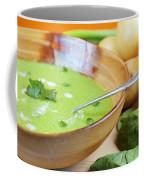 Homemade Potato And Spinach Soup Coffee Mug