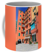 homes and promenade in Camogli Coffee Mug