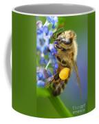 Honeybee On California Lilac Coffee Mug