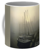 Honfleur Harbour In Fog. Calvados. Normandy. France. Europe Coffee Mug