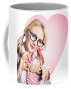 Hopeless Romantic Girl Showing Signs Of Love Coffee Mug