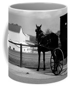 Horse And Buggy And Farm Coffee Mug