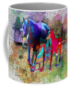 Horses Of Different Colors Coffee Mug