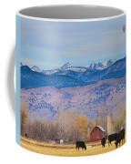 Hot Air Balloon Rocky Mountain County View Coffee Mug
