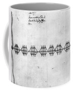 Hudson River: Chain, C1778 Coffee Mug
