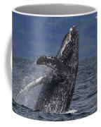 Humpback Whale Breaching Prince William Coffee Mug