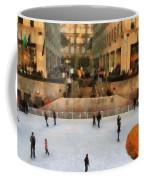 Ice Skating In New York City Coffee Mug