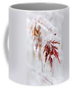 Icy Winter Leaf Coffee Mug