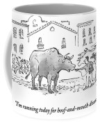 I'm Running Today For Hoof And Mouth Disease Coffee Mug