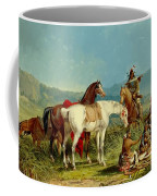 Indians Playing Cards Coffee Mug by John Mix Stanley