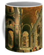 Interior Of St Peters In Rome Coffee Mug by Giovanni Paolo Panini