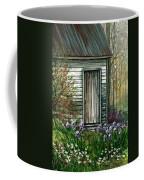 Iris By Barn Coffee Mug