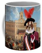 Irish Red And White Setter Art Canvas Print Coffee Mug