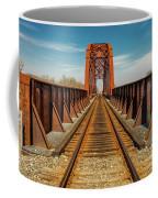 Iron Railroad Bridge Over Water, Texas Coffee Mug