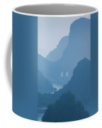Islands And Boats In The Pacific Ocean Coffee Mug