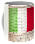 Italy Flag Brick Wall Background Coffee Mug