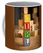 Its A Girl - Alphabet Blocks Coffee Mug
